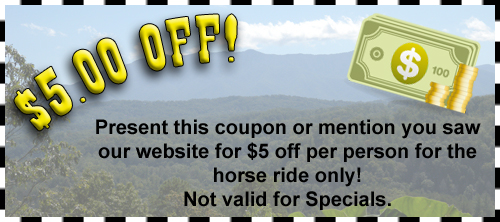 Horseback riding Gatlinburg coupon
